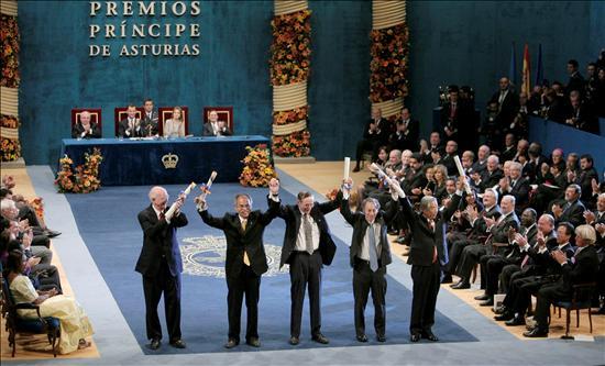 Los cinco científicos galardonados con el Premio Príncipe de Asturias de Investigación Científica y Técnica
