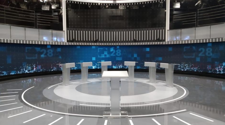 Escenografía para el primer #Debate28A
